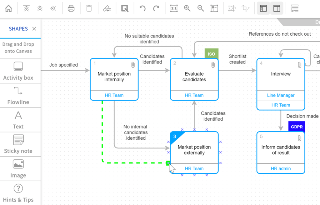 Screenshot of the Easy Process Drawing Tools