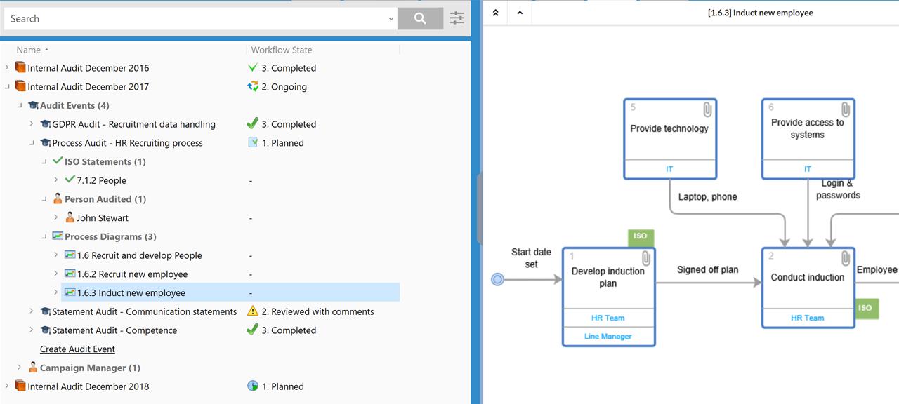 Screenshot of CtrlDocs Audit Module